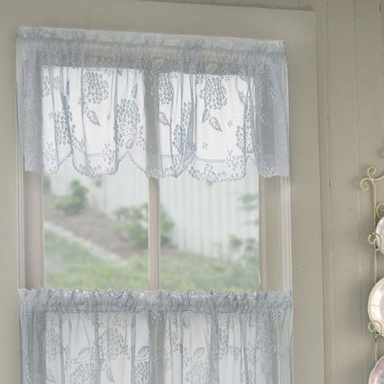 Hydrangea Valance - Heritage Lace - Day in the Country Collection - 6295E-6016, 6295W-6016