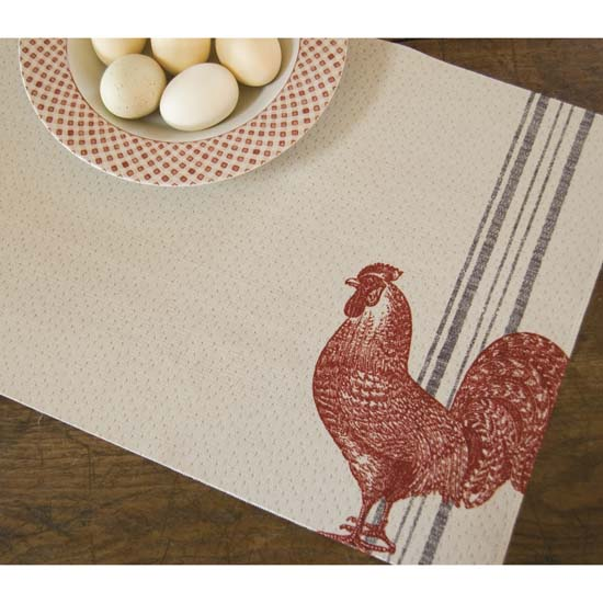 Red Rooster Placemat – Heritage Lace – Day in the Country Collection – PE1319C-0451