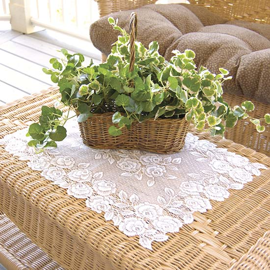 Tea Rose Placemat (set of 6) - Heritage Lace TR-1420E, TR-1420P, TR-1420W
