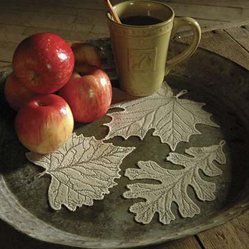 Leaf Doily Set (set of 12) &#8211; Heritage Lace &#8211; Harvest / Lodge Collection &#8211; AM-12E
