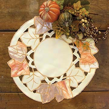 Autumn Elegance Doily (set of 2) - Heritage Lace Harvest AE-1200C