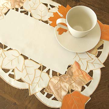 Autumn Elegance Placemat (set of 2) - Heritage Lace Harvest AE-1420C