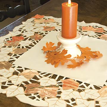 Autumn Elegance Table Topper - Heritage Lace Harvest AE-3434C
