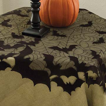 Going Batty Table Topper - Heritage Lace - Halloween Collection - GB-4400B