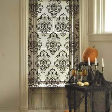 Halloween Damask Panel &#8211; Heritage Lace &#8211; Halloween Collection &#8211; 7085B-3884