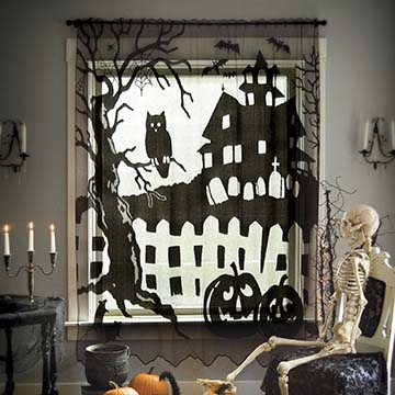 Spooky Hollow Scenic Panel – Heritage Lace – Halloween Collection – 7075B-7284