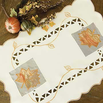 Harvest Sheer Placemat (set of 2) - Heritage Lace Harvest HS-1420C