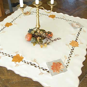 Harvest Sheer Table Topper - Heritage Lace Harvest HS-3434C