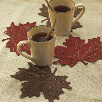 Leaf Maple Doily (set of 12) - Heritage Lace Harvest Lodge MP-0708DP, MP-0708ER