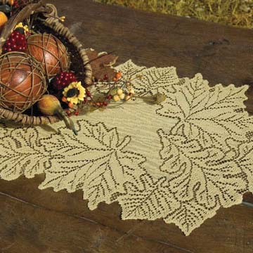Leaf 14″ x 36″ Runner – Heritage Lace – Harvest / Lodge Collection – AM-1436DP, AM-1436ER, AM-1436G