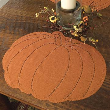 Pumpkin Placemat (set of 4) - Heritage Lace Harvest PM-1518O