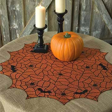 Rest in Peace 30″ Round Table Topper – Heritage Lace – Halloween Collection – RP-3000BO