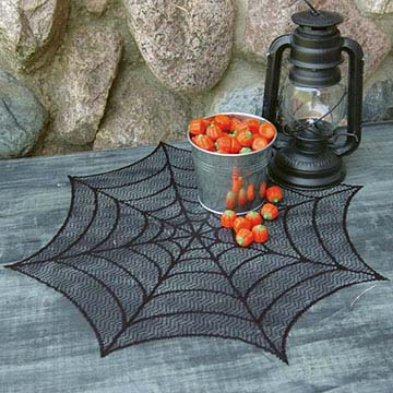 Spider Web 20″ Doily (set of 3) – Heritage Lace – Halloween Collection – HW-2000B