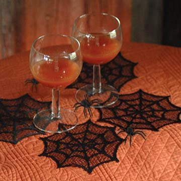 Spider Web 6″ Doily (set of 6) – Heritage Lace – Halloween Collection – HW-0600B