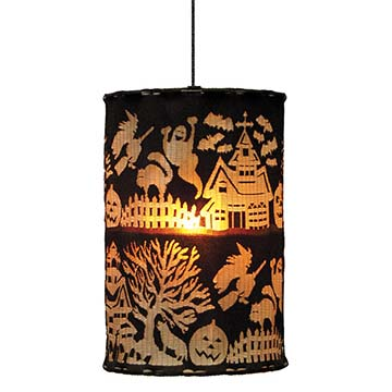 Spooky Hollow 10″ x 14″ Round Lamp Shade – Heritage Lace – Halloween Collection – SHLB-10R14