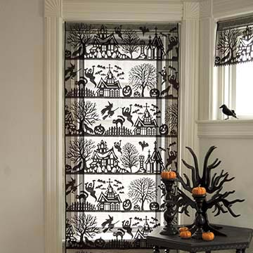 Spooky Hollow Panel &#8211; Heritage Lace &#8211; Halloween Collection &#8211; 7075B-3672