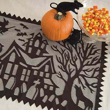 Spooky Hollow Placemat (set of 2) - Heritage Lace Halloween SH-1420B