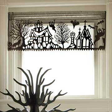Spooky Hollow Valance &#8211; Heritage Lace &#8211; Halloween Collection &#8211; 7075B-3612