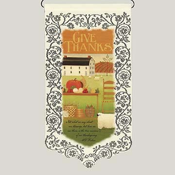 Give Thanks/True Measure - Heritage Lace Harvest Wall Hanging WH11E-0629