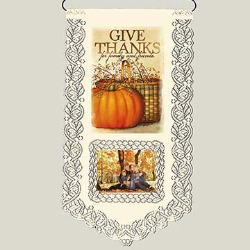 Thanks-Family & Friends - Heritage Lace Harvest Wall Hanging WH33E-0663