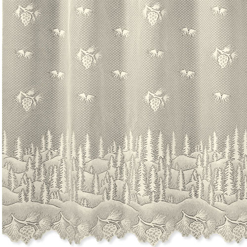 Pinecone Shower Curtain - Heritage Lace 6145E-OC, 6145W-OC