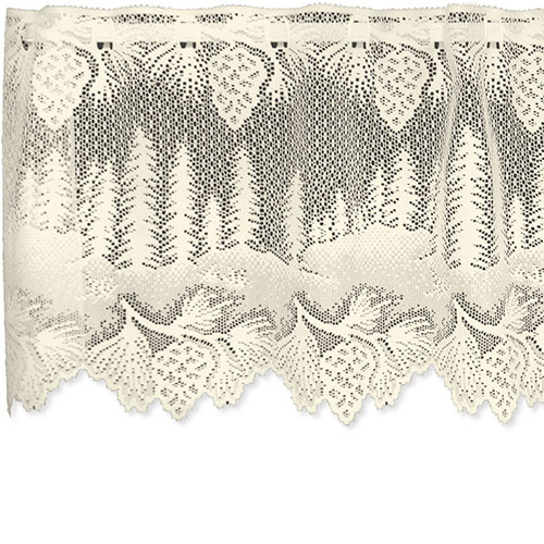 Pinecone Valance - Heritage Lace Lodge Collection 6145E-6016, 6145W-6016