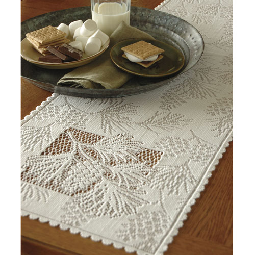 Woodland 14 x 60 Runner  Heritage Lace  Lodge Collection  WL-1460E, WL-1460W