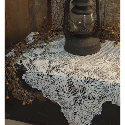 Woodland 36 x 36 Table Topper  Heritage Lace  Lodge Collection  WL-3636E, WL-3636W