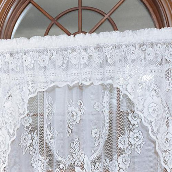 Victorian Rose Insert Valance - Heritage Lace - Romantic Collection - 2860E-3612, 2860W-3612