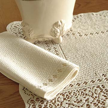 Canterbury Classic Napkin (set of 6) - Heritage Lace CC-17NPE, CC-17NPW