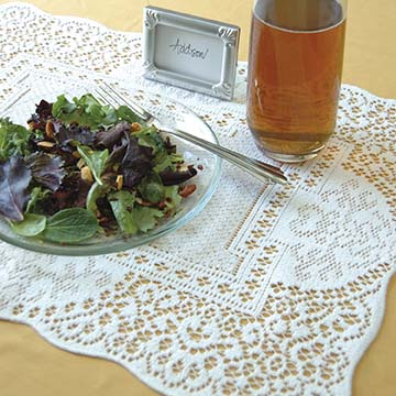 Canterbury Classic Placemat &#8211; Heritage Lace &#8211; Timeless &#038; Classic Collection &#8211; CC-1419E, CC-1419W