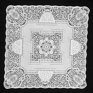 Canterbury Classic 36&#8243; Table Topper &#8211; Heritage Lace &#8211; Timeless &#038; Classic Collection &#8211; CC-3636E, CC-3636W