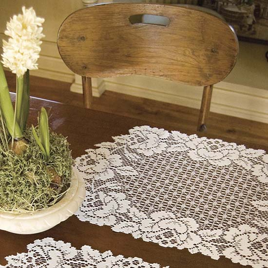 Cottage Rose Placemat - Heritage Lace - Timeless & Classic Collection - CR-1420E, CR-1420W