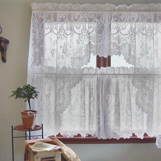English Ivy 86″ x 63″ Swag Pair – Heritage Lace – Timeless & Classic Collection  – 9130ES-63PR, 9130WS-63PR