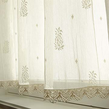 Pineapple 45″ x 84″ Panel with Trim – Heritage Lace – Timeless & Classic Collection – 7170E-4584HT, 7170W-4584HT