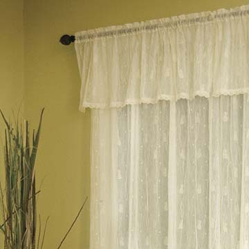 Pineapple Valance with Trim - Heritage Lace 7170E-4515HT, 7170W-4515HT