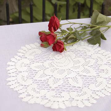 Rose 12″ Doily – Heritage Lace – Timeless & Classic Collection-  56662E, 56662W