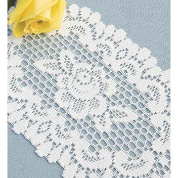 Rose 8″ x 14″ Doily – Heritage Lace – Timeless & Classic Collection  – 56671E, 56671W