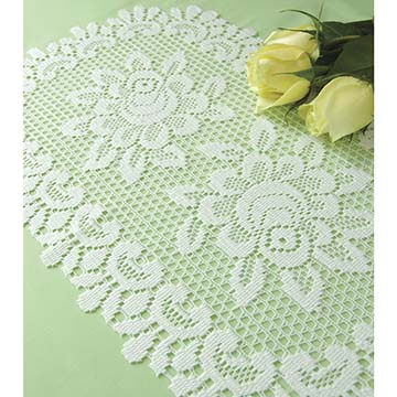 Rose Placemat (set of 6) - Heritage Lace 56670E, 56670W