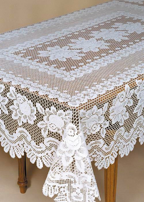 Rose 60108 Rectangle Tablecloth Heritage Lace 56680RE