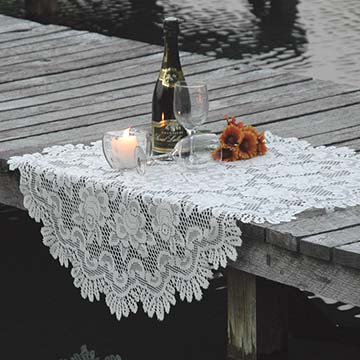 table toppers lace curtain store