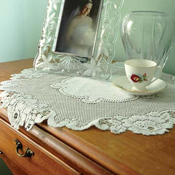 Vintage Rose 20″ Doily – Heritage Lace – Timeless & Classic Collection  – VT-2000E, VT-2000W