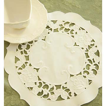 Wild Rose 12″ Doily – Heritage Lace – Timeless & Classic Collection – WR-1200I
