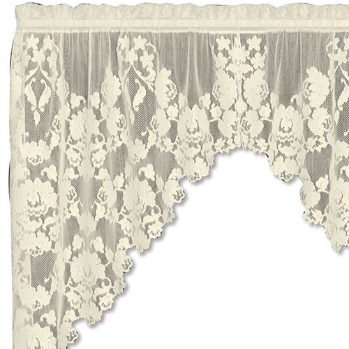 Windsor 72&#8243; x 44&#8243; Swag Pair &#8211; Heritage Lace &#8211; Timeless &#038; Classic Collection  &#8211; 8200AS-44PR, 8200ES-44PR