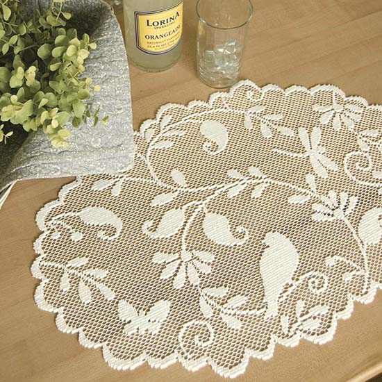 Bristol Garden Placemat - Heritage Lace - Transitional Collection - BG-1420C, BG-1420W