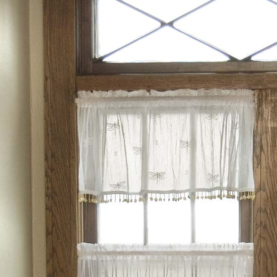 Dragonfly Valance with Trim - Heritage Lace - Transitional Collection - 7185E-4515HT, 7185W-4515HT