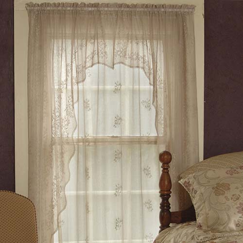 Sheer Divine Swag Pair 80&#8243;x46&#8243; &#8211; Heritage Lace &#8211; Transitional Collection &#8211; 8220ES-46PR, 8220XS-46PR, 8220WS-46PR