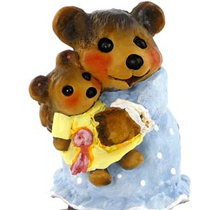 BB-14 Naptime with Dolly – Wee Forest Folk Collectible – Bears