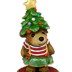 BB-17 My Holiday Hat - Wee Forest Folk Bears - Christmas