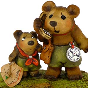 BB-18 Lost on the Trail! - Wee Forest Folk Collectible - Bears
